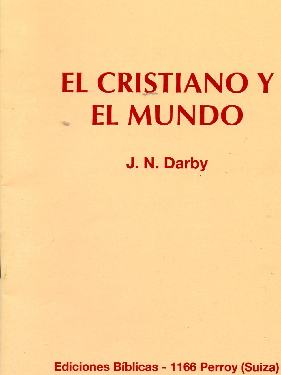Cover of El cristiano y el mundo